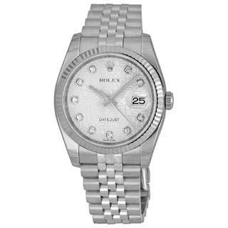 Rolex Men's Datejust Silver Dial Watch