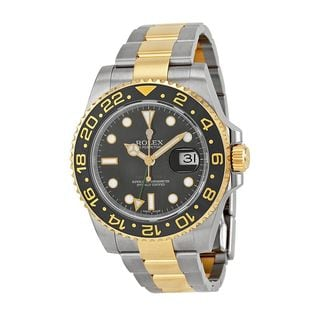 Rolex Men's GMT Master II Black Dial Watch