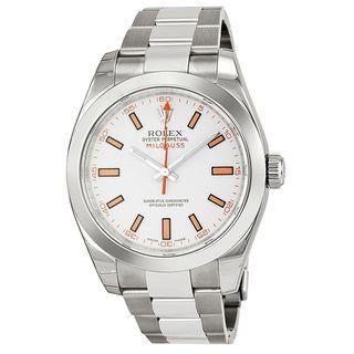 Rolex Men's Milgauss White Dial Watch