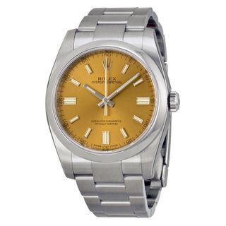 Rolex Men's Oyster Perpetual Brown Dial Watch