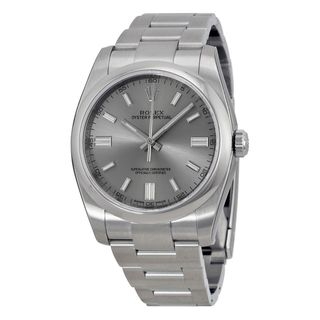 Rolex Men's Oyster Perpetual Grey Dial Watch
