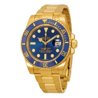 Pre-Owned Rolex Men's Submariner Blue Dial Watch