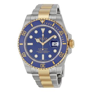 Rolex Men's m116613lb-0005 Submariner Blue Dial Two-Tone Watch