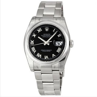 Rolex Women's Datejust Black Dial Watch