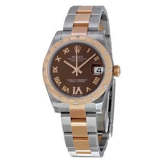 Rolex Women's Datejust Brown Dial Watch