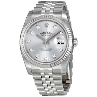 Rolex Women's Datejust White Dial Watch