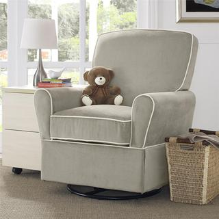 Baby Relax Milan Taupe Swivel Glider