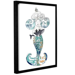 ArtWall Sarah Ogren's Mermaid, Gallery Wrapped Floater-framed Canvas