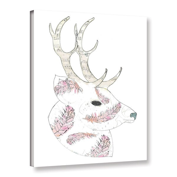 ArtWall Sarah Ogren's Feather Deer, Gallery Wrapped Canvas