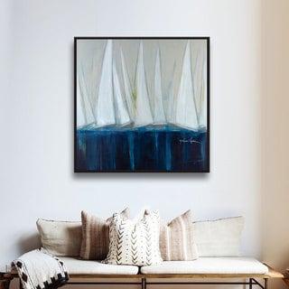 Melissa Lyons's White Sails, Gallery Wrapped Floater-framed Canvas