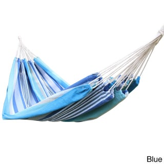 """Adeco Cotton Fabric Canvas Tree Hanging Suspended Hammock Bed - 118""""l x 63""""w"""