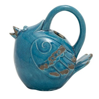 Ceramic Blue Bird Water Pot