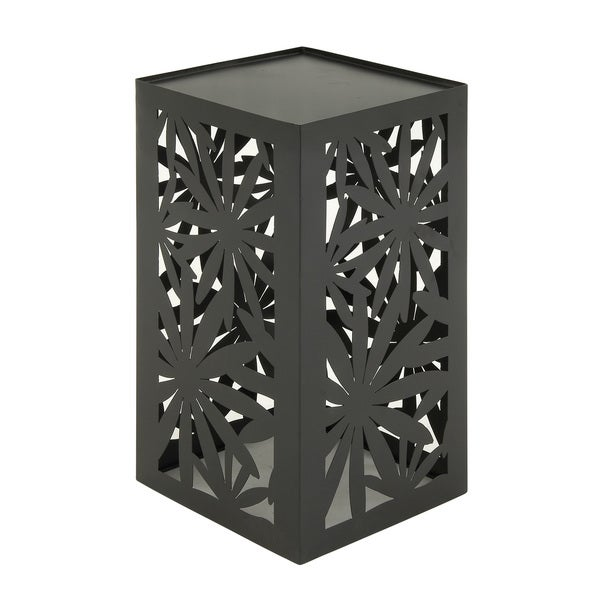 Shop Metal Floral Cut Out Outdoor Accent Table Free