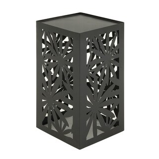 Metal Floral Cut-out Outdoor Accent Table