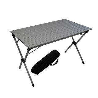 Silver Aluminum Large Portable Picnic Table in a Bag