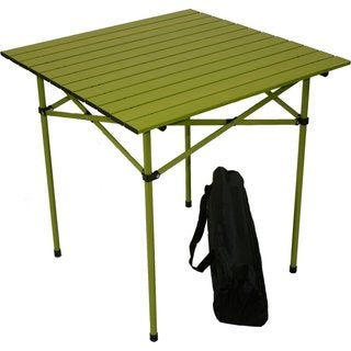 Green Aluminum Portable Table with Bag