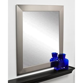 Stainless Silver 32 x 38-inch Wall Mirror