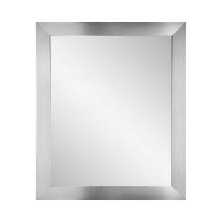 BrandtWorks Modern Silver Wall Mirror 27 x 32