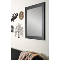 BrandtWorks Large Black Wall Mirror 32 x 38