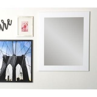 BrandtWorks Large 32 x 38 - inch White Wall Mirror - Matte White