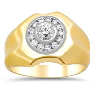 Artistry Collections 14k Two-tone Gold 7/8ct TDW Diamond Ring (F-G, SI1-SI2)