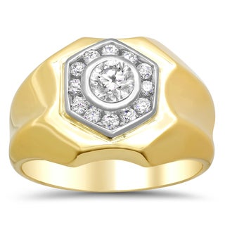 14k Two-tone Gold 7/8ct TDW Diamond Ring (F-G, SI1-SI2)