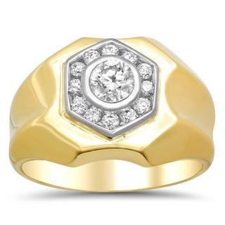 14k Two-tone Gold 7/8ct TDW Diamond Ring (F-G, SI1-SI2)