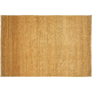 Oushak Kamola Gold Hand-knotted Rug (7'9 x 10'9)
