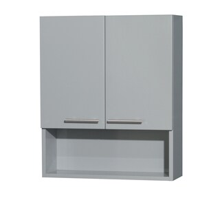 Wyndham Collection Amare Dove Grey 29-inch Wall-mounted 2-door Storage Bathroom Cabinet