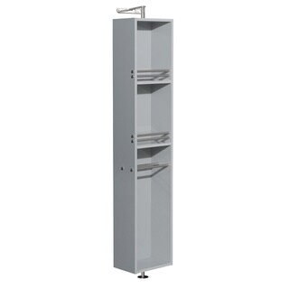 Wyndham Collection Amare Dove Grey 73-inch Linen Tower and 360-degree Rotating Floor Cabinet with Full-length Mirror