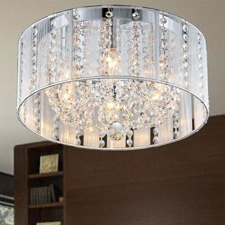 Buy flush mount lighting online at overstock our best lighting addison white 16 inch crystal flush mount aloadofball Gallery
