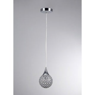 Harper 1-light Round Chrome 5-inch Crystal Pendant Lamp
