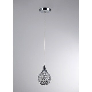 Harper 1-light Round Chrome 5-inch Crystal Pendant Lamp