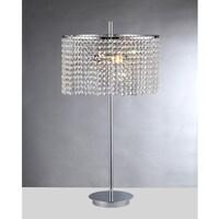Leah 2 Light Chrome 15 Inch Crystal Table Lamp