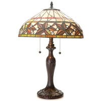 Gail 2-light Multi-color 16-inch Tiffany-style Table Lamp