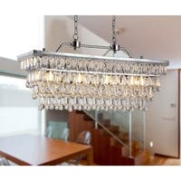 Willow 4-light Crystal 30-inch Chrome Chandelier