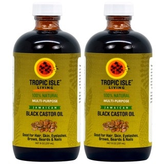 Tropic Isle 8-ounce Jamaican Black Castor Oil with Applicator (Pack of 2)