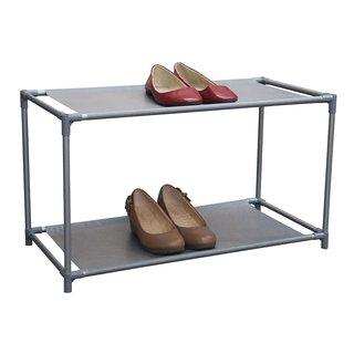 Home Basics Non Woven 6 pair Shoe Rack Organizer