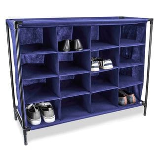 Sunbeam 16-Compartment Cubby Shoe Rack