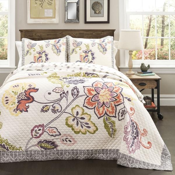 The Gray Barn Dogwood Cotton 3-piece Quilt Set