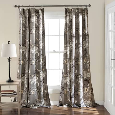 The Gray Barn Dogwood Floral Curtain Panel Pair