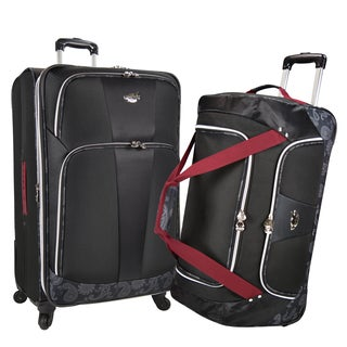 Bret Michaels by Traveler's Choice Classic Road 2-piece 31-inch Upright Suitcase and Rolling Duffel