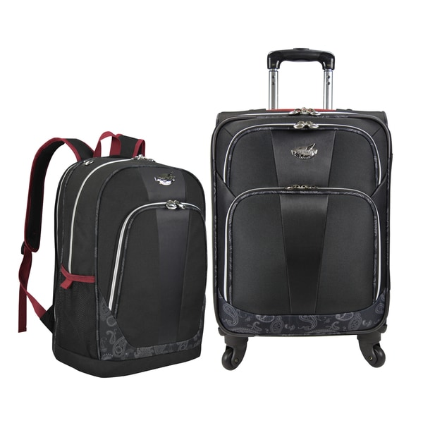 Bret Michaels by Traveler's Choice Classic Road 2-piece Carry-on Luggage and Laptop Backpack Set