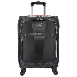 Bret Michaels by Traveler's Choice Classic Road 22-inch Expandable Carry-on Spinner Suitcase