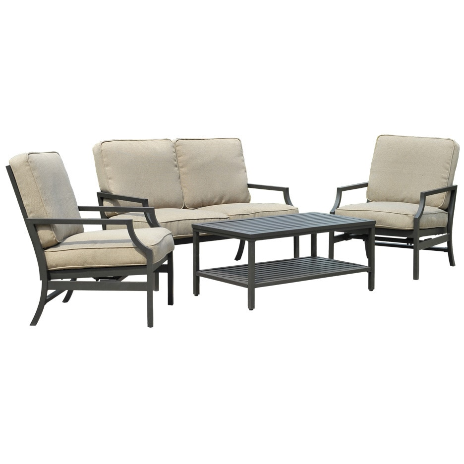 SunJoy Beau Deep Seating Set, Beige, Size 4-Piece Sets, P...