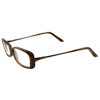 Valentino Unisex VL 5525 NHJ 51mm Shell Brown Rectangle Eyeglasses