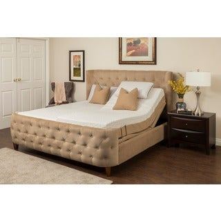 Sleep Zone Hermosa 8-inch Split California King-size Memory Foam Mattress Adjustable Set