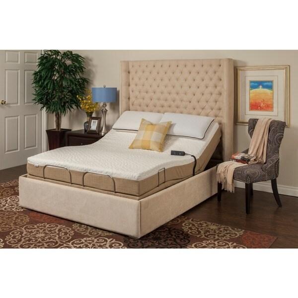 sleep zone hermosa 8inch queensize memory foam mattress adjustable set