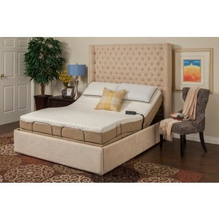 Sleep Zone Hermosa 8-inch Twin XL-size Memory Foam Mattress Adjustable Set