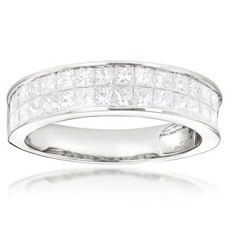 Luxurman 14k Gold 2ct Princess-cut Diamond Wedding Band (G-H, VS1-VS2)
